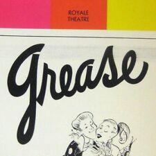 Grease Playbill 1973 Royale Pride Barry Bostwick Richard Gere Ilene Graff