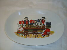 French Alsatian porcelain choucroute sauerkraut diner platter plate, 14 inches