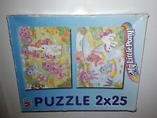 MLP My little pony  Puzzle 2 x 25 pieces  COMPLET MB Hasbro