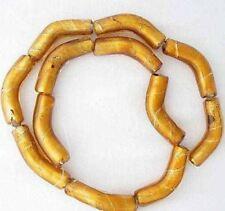 2 Golden Elbow Lampwork Glass Foil Beads 009020