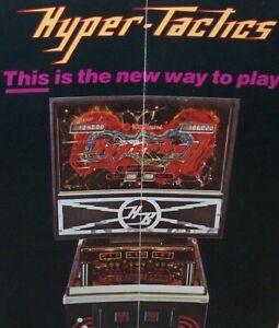 Hyperball Pinball FLYER Booklet Hyper-Tactics Original Williams Game Promo 1981