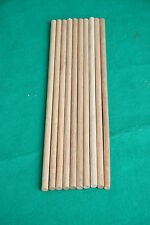 Dowel Hardwood 3,4,5 or 6mm  Dia x 300mm long pack of 10 pieces 9mm pack 0f 5