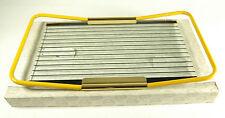 Elegante vassoio vetro metallo dipinto giallo ottone design MB Mascagni +box-IT(