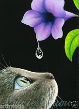 ACEO art print Cat 409 from original painting by L.Dumas
