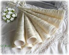 6 Sisaltüten Sisaltrichter 30cm creme Hochzeit Kommunion, Tischdeko