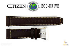 Citizen Eco-Drive NB0070-06E 23mm Brown Leather Watch Band Strap S088607