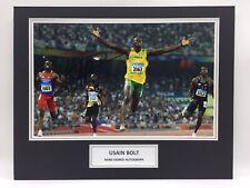 RARE Usain Bolt Olympics Signed Photo Display + COA + PROOF AUTOGRAPH 100m