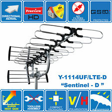 """Sentinel-D"" SUPER HIGH GAIN 4G/LTE READY DIGITAL HD TV OUTDOOR AERIAL FREEVIEW"