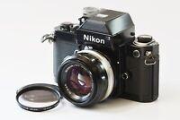 [Mint] Nikon F2 Photomic Black 35mm SLR Nikkor-S C Auto 50mm F1.4 from Japan 277