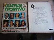 GUERIN SPORTIVO=NR°22 1973=mancano i poster di Juve e Milan=Leggi descrizione