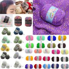 100% Bamboo Cotton Warm Soft Natural Knitting Crochet Knitwear Wool Yarn 50g&25g