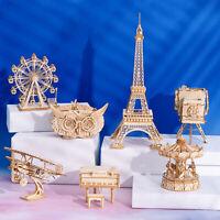 ROBOTIME DIY Modellbau Kits 3D Holz Puzzle Montage Spielzeug Geschenk für Kinder
