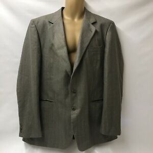 Mens Vintage Burberry London Blazer Jacket Large 48 in Chest Length 35 in