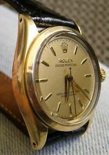 1942 Rolex Oyster Perpetual 26j 34mm Gold Shell Men's Watch Orig Face & Dial