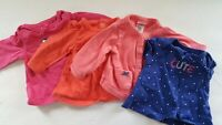 Newborn Girls Shirt Lot of 4 - NB Tops Carters Baby Infant