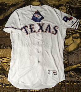 Majestic Texas Rangers Flex Base Authentic On-Field White Jersey Size 44 (L) NWT