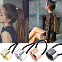 Women Girl Hair Band Metal Hair Cuff Wrap Pony Tail Holder Ring Rope Circle 1PC