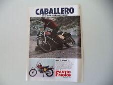 advertising Pubblicità 1976 FANTIC CABALLERO 125 TX-150 MOD. '75