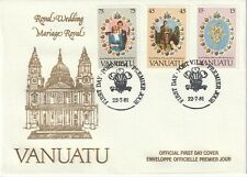 1981 Vanuatu FDC cover Royal Wedding Lady Diana and Prince Charles