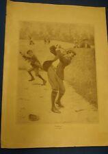 """ANTIQUE A.B. FROST """"TEMPER"""" GOLF GOLFER 1904 POSTER PRINT ART GOLFBALL"""