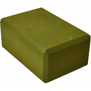 "3"" Foam Yoga Block Fitness Exercise Stretching Brick Soft Durable Olive Green"