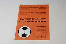 More details for european cup final (1974) atletico madrid v bayern munich programme (excellent)