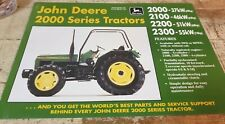 1994 JOHN DEERE 2000 Series Tractors Original Australian Sales Leaflet