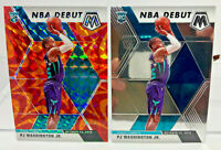 PJ Washington JR - 2 Card ROOKIE Lot 2019-20 Mosaic Orange Prizm & NBA Debut