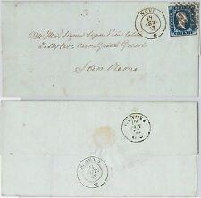 ANTICHI STATI - SARDEGNA : Sassone 2  su BUSTA da  NOVI  a SAN REMO  1853
