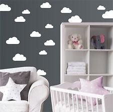 Wolken 20 Stk. Wandtatto Wandtattoo Wandaufkleber Sticker Himmel Kinder Baby