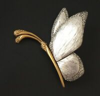 Vintage signed Liz Claiborne LC Butterfly Brooch