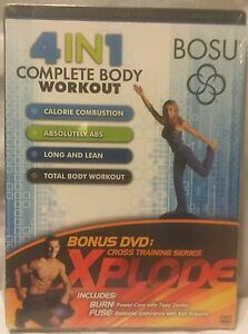 NEW 4 in 1 Bosu Complete Body Workout DVD with Bonus Xplode burn fuse DVD
