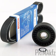 Bosch 6PK1050 V-Ribbed Belts + Tension Pulley Audi A3 Seat Skoda VW 1.9 2.0 Tdi