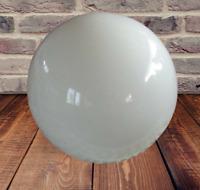 Old Big Globe Round white opal glass diameter 29 cm + or - vintage 1970 France B