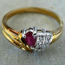 Marquise Ruby Yellow Gold Fine Rings