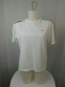 Puma Women's Short Sleeve Chase Logo Tee - White, Small #2735