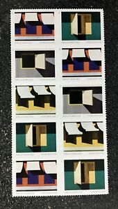 2021USA #5594-5597 Forever - Emilio Sanchez - Block of 10 postage