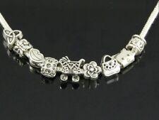 Wholesale 100 Bulk Lots Tibetan Silver Mix Beads Fit Charm Bracelet ZY014