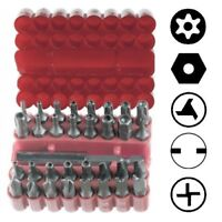Security Tamper Proof Bit Set 33pc Torq Torx Hex Star Spanner Tri Wing Screwdriv