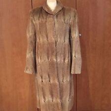 Magnifique vintage manteau de fourrure Brun Clair/Blonde fourrure-Env. Taille 10-12