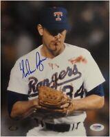 Nolan Ryan Signed Auto 16X20 Photo Texas Rangers Bloody Lip Bo Jackson PSA/DNA