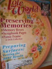 Decorative Painting Tole World Magazine February 2002
