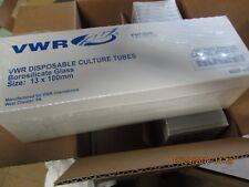 Case Of 1000 Vwr 47729 572 Culture Tubes Borosilicate Glass 13 X 100mm