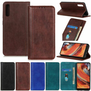 Litchi Folio Wallet Leather Flip Cover Case For Sony Xperia L4 1 II 5 II 10 II