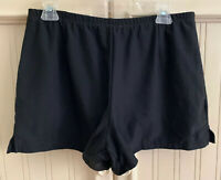 Nike Women's FIT DRY Athletic Running Gym Workout Shorts Black Size Large