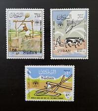 Sudan stamps 1987 - World Food Day - set of 3 Mnh