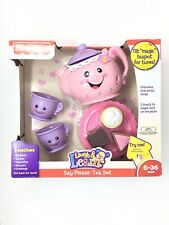 Fisher-Price Laugh and Learn Say Please Tea Set Tilt Magic Teapot For Tunes