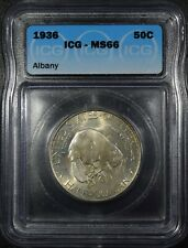 "1936 Albany Commemorative Half Dollar ""ICG MS66"" *Free S/H After 1st Item*"