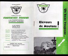 """CROIX (59) USINE d'ALIMENTS pour ELEVAGE FERMIER """"PROVIMI"""" Catalogue VIGORGENE"""