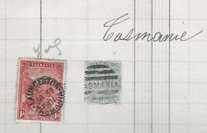 SERIE DE  2 TIMBRES TASMANIE -